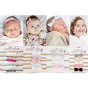 18 Baby Girl Hair Bows on Nylon Headbands | Sweet Starter Pack | By Scarlett Robin