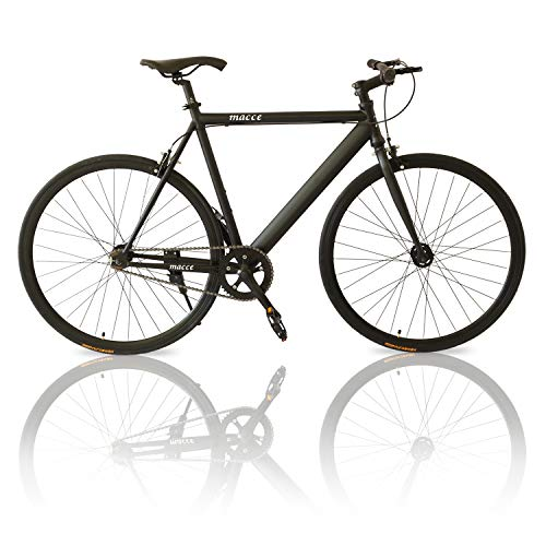 Outroad Fixed Gear Single-Speed Fixie Urban Track Bike Black (Best Fixed Gear Track Bike)