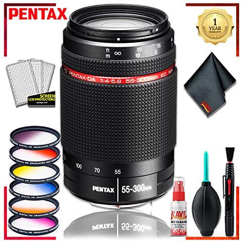 (Pentax DA 55-300 WR 4-5.8 ED Lens + Vivitar Graduated Color Filter Set + Cleaning Kit)