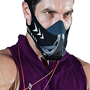 AOCKS Workout Oxygen Mask for Running and Breathing Mask, Cardio Mask, Official Training Mask Used by Pros (Bonus Carry…