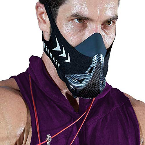 AOCKS FDBRO Workout Oxygen Mask for Running and Breathing Mask, Cardio Mask, Official Training Mask Used by Pros (Bonus Carry Case)