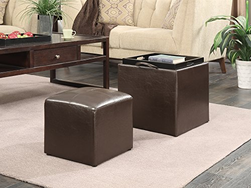 Convenience Concepts Designs4Comfort Park Avenue Single Ottoman with Stool, Dark Espresso Review