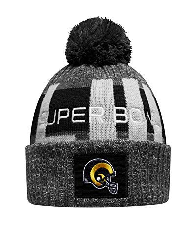 Image Unavailable. Image not available for. Color  New Era Los Angeles Rams  Heather Gray Super Bowl LIII Bound Marled Knit Hat dd91ae490b12
