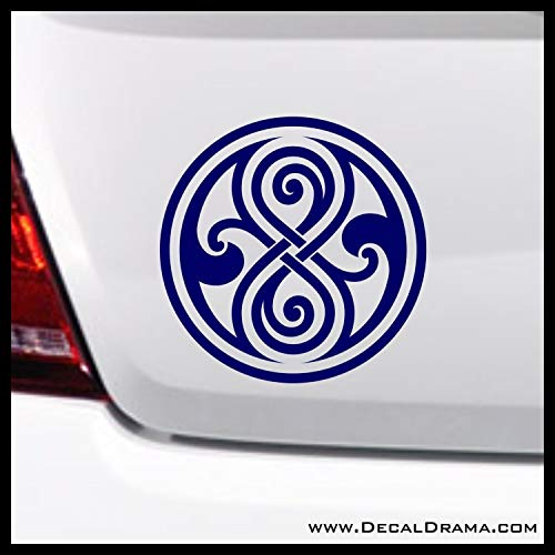 Gallifrey Seal of Rassilon SMALL Vinyl Car Decal | Dr Who TARDIS Doctor Who Whovian Police Box BBC | Cars Trucks Vans Laptops Windows Cups Tumblers Mugs Walls | Made in the USA