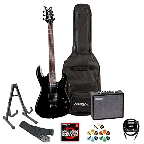 Dean Vendetta VNXM-CBK Classic Black Electric Guitar with with Amp, Cable, Strap, Pick Sampler, Stand & Gig Bag