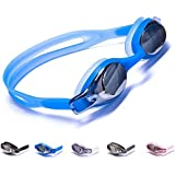 Aguaphile Junior Swimming Goggles for Kids and Early Teens, Soft and Comfortable, Mirrored Anti-Fog UV Protection - Best Junior Swim Goggles - Compare to Speedo, Aqua Sphere, or TYR - Premium Quality