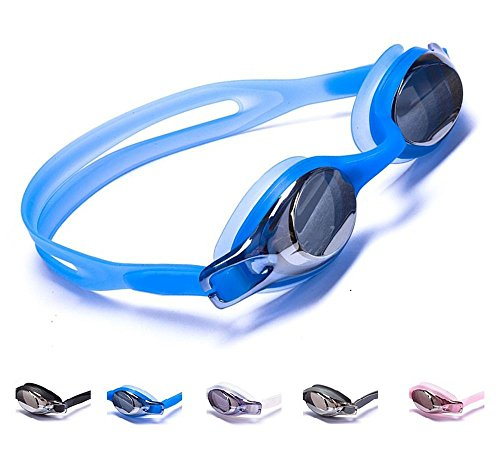 Aguaphile Junior Swimming Goggles for Kids and Early Teens, Soft and Comfortable, Mirrored Anti-Fog UV Protection - Best Junior Swim Goggles - Compare to Speedo, Aqua Sphere, or TYR - - Surf Goggles Review