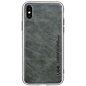 Leather Bumper Anti-Scratch Protective Case Shock-Absorption Cover For Apple iPhone X