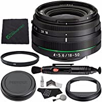 Pentax HD PENTAX DA 18-50mm f/4.0-5.6 DC WR RE Lens MFR # 21357 + 58mm Multicoated UV Filter + Microfiber Cleaning Cloth + Lens Pen Cleaner + 5 piece Lens Cleaning Kit Bundle
