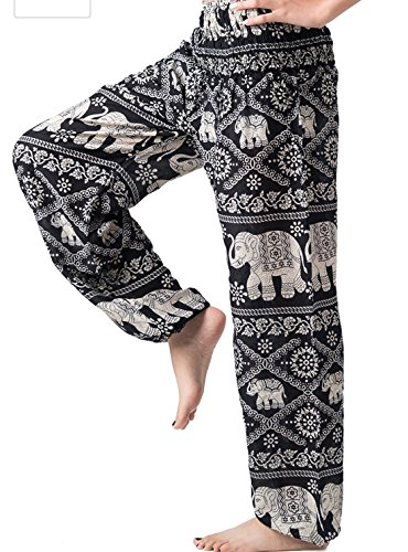 Flamingo Goblet Set (Kraft4Life BLACK Hippie Hobo Boho Elephant Design Bohemian Pants Woman Yoga Comfy Pants)