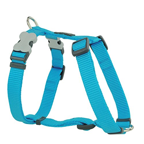 Red Dingo Plain Dog Harness, Extra Small, 12 Mm, Turquoise