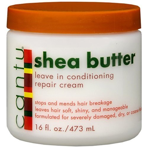 Cantu Shea Butter Leave In Conditioning Repair Cream, 16 Ounce (Pack of 3) by Cantu