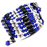 """Accents Kingdom 36"""" Magnetic Hematite Cultured Pearl Crystal Bead Necklace,Bracelet,Anklet,Lariat"""