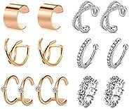 MODRSA Ear Cuff Earrings for Women Non Piercing Ear Hoop Earrings Stainless Steel Clip On Cartilage Earring Hu
