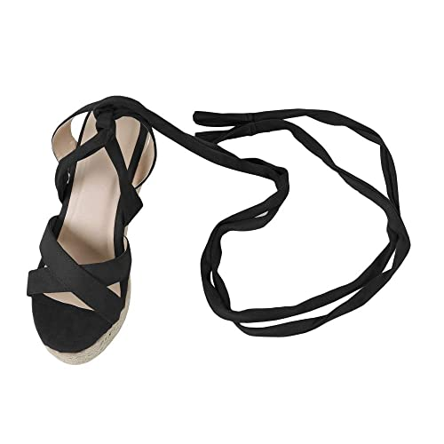 c49b7232fd632 Amazon.com: Nailyhome Womens Espadrille Platform Wedge Heel Sandals ...