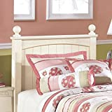 Signature Design by Ashley B213-52N Cottage Retreat Collection Poster Headboard, Twin, Cream Cottage
