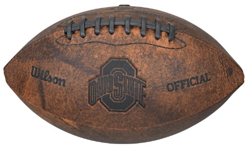 NCAA Ohio State Buckeyes Vintage Throwback Football, 9-Inches (Football Youth State Gloves Ohio)