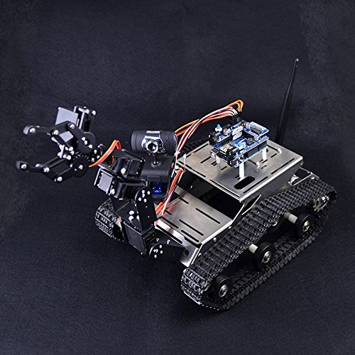Kuman wireless wifi manipulator robot car kit for arduino