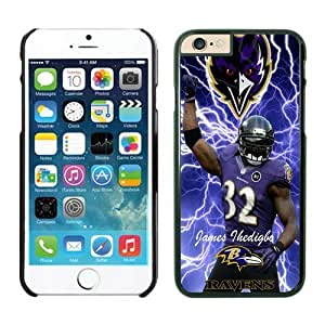 Baltimore Ravens James Ihedigbo iPhone 6 Cases 02 Black 4.7 inches63432_53503