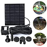 HUANGYABO 7W Submersible Floating Solar Power Fountain Panel Kit Garden Water Pump Water