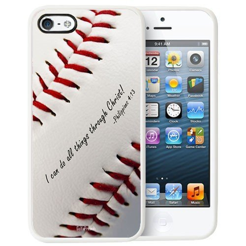 Cell World -Philippians 4:13 Softball Baseball Basketball Christian-For Apple iPod Touch 6, 6th Generation, Made and shipped from the USA Style 130