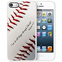 TD LLC-Philippians 4:13 Softball Baseball Basketball Christian-Rubber Case for Apple iPhone 5,5S,SE, Made and Shipped from USA and delivered within 8 Days. Includes screen protector . Style 22