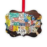CafePress - United States License Plate Map - Christmas Ornament, Decorative Tree Ornament