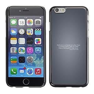 EJOY---Cubierta de la caja de protección la piel dura para el / Apple Iphone 6 Plus 5.5 / --Perfección motivación