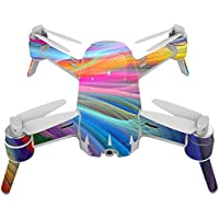 Skin For Yuneec Breeze 4K Drone – Rainbow Waves | MightySkins Protective, Durable, and Unique Vinyl Decal wrap cover | Easy To Apply, Remove, and Change Styles | Made in the USA