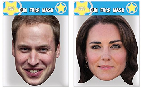 (William & Kate - Twin Pack - Celebrity Face Masks)
