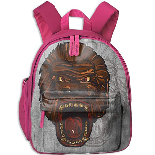 Ape Head Backpack, Great for Kids Middle School Backpack, School Bag, Fits small Tablets, Perfect for Boys and Girls