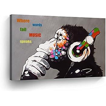 Amazon.com: No Frame Starry Night Joker Abstract Oil
