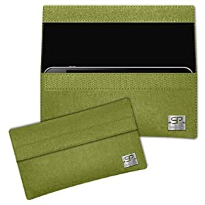 SIMON PIKE Cáscara Funda de móvil NewYork 1 verde Blackberry Q5 Fieltro de lana