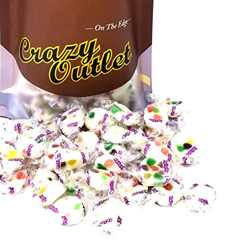CrazyOutlet Pack - Brach's Jelly Bean Nougats Candy, Fresh, Chewy, Fruity Flavor Taffy Candy, Individually Wrapped Bulk Pack, 2 Lbs