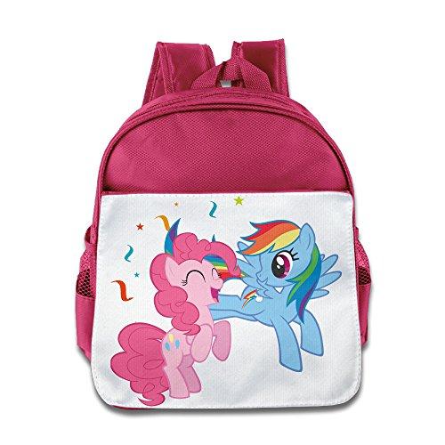 Colors of Rainbow My Little Pony Cheers Team Teenager Pink School Bag Backpack For 1-6 Years (Partysaurus Rex Costume)