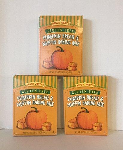 Trader Joe's Baker Josef's Gluten Free Pumpkin Bread & Muffin Baking Mix Three (3) Boxes 17.5 Ounce each. ( 3 Items) by Trader Joe's