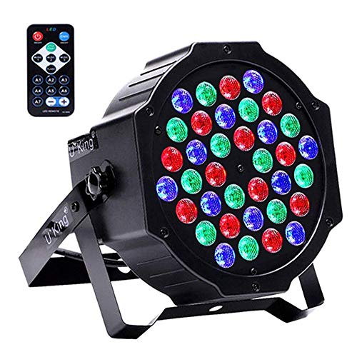 U`King Stage Lighting Uplights with RGB 36 LED Par Lights by IR Remote and DMX Control for Wedding Party DJ Up Lighting Stage -