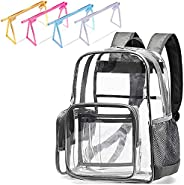 Large Clear Backpack Heavy Duty PVC Transparent Clear Bag for Men, Women