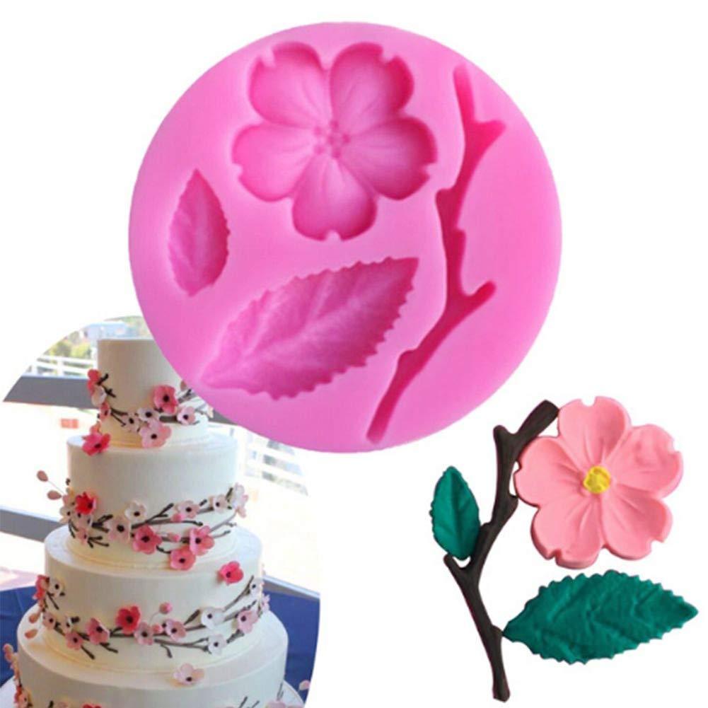 Display08/Coque en silicone Fleurs de prunier DIY Fondant D/écoration de g/âteaux Moule de cuisine cuisson Outil