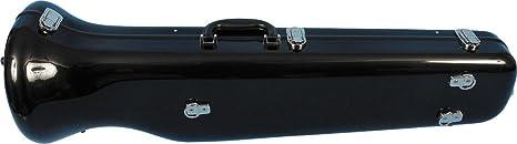 Estuche de trombón de JW Eastman de fibra de vidrio, color negro brillante CE 176 B: Amazon.es: Instrumentos musicales