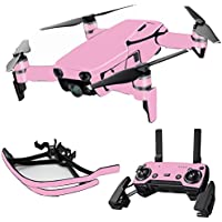 MightySkins Skin for DJI Mavic Air Drone - Solid Pink | Max Combo Protective, Durable, and Unique Vinyl Decal wrap cover | Easy To Apply, Remove, and Change Styles | Made in the USA