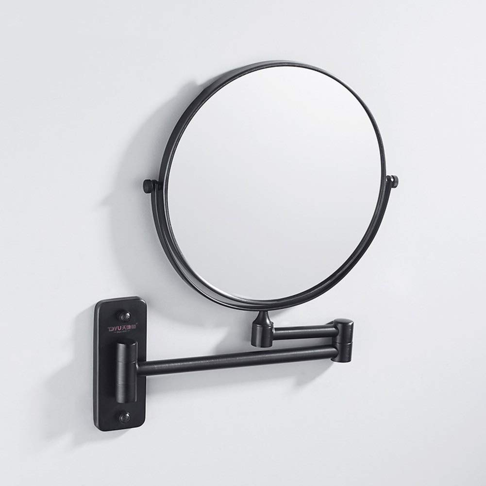 KELE Punch-Free Shower Mirror Makeup Vanity Mirror, Folding Hotel Rotating Extendable Double Sided Mirror Magniying Mirror Beauty Mirror Wall-Mounted Mirror-A