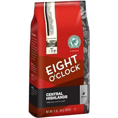 Eight O'Clock Whole Bean Coffee, Central Highlands, 11 Ounce