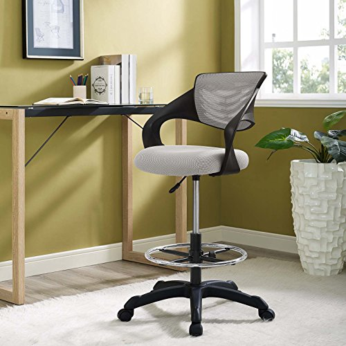 Modway EEI-3040-GRY Thrive Mesh Drafting Chair Gray