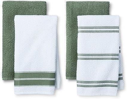Frottee-Handtuch Küche grün (10 Stück): Amazon.de: Küche & Haushalt