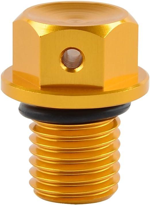 H2racing Motor Gold M12 X P1 5 Magnetisch Ölablassschraube Schrauben Für Aprilia Leonardo Scarabeo 125 150 200 Rx Sx 125 Rst Rsv Etv 1000 Multistrada 1200 Streetfighter S 848 Tuono V4 R 1100 125 Auto