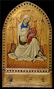 Oil painting 'Lorenzo Monaco,Madonna of Humility,about 1410' printing on Perfect effect Canvas , 10x16 inch / 25x42 cm ,the best Bathroom decoration and Home decor and Gifts is this Vivid Art Decorative Prints on Canvas
