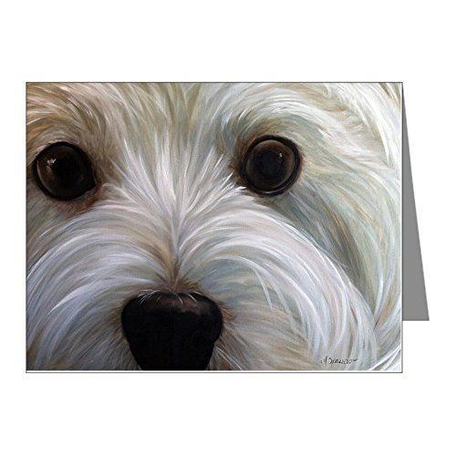 CafePress - Zoe Note Cards (Pk Of 20) - Blank Note Cards (Pack of 20) Glossy (Maltese Note Cards)