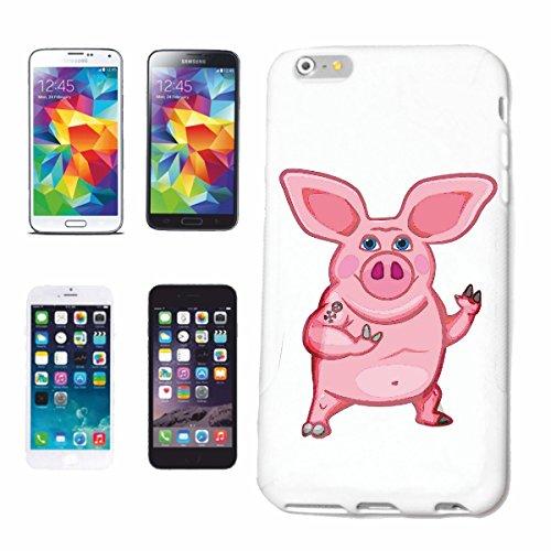 caja del teléfono iPhone 7S CERDO DIVERTIDO barbacoa Glücksschwein domésticos PIG BOAR COCHINILLOS Caso duro de la cubierta Teléfono Cubiertas cubierta para el Apple iPhone en blanco