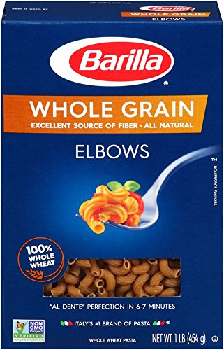 Barilla Whole Grain Pasta, Elbows, 16 oz (Noodles Wheat Whole)